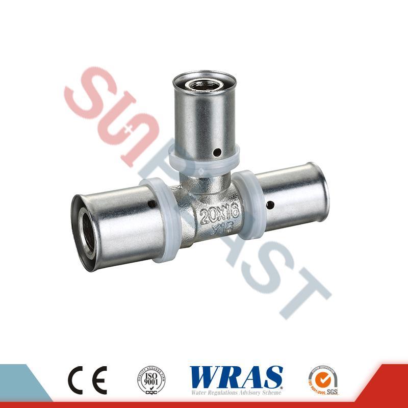 Mosazný redukční redukční ventil pro PEX-AL-PEX vícevrstvé potrubí