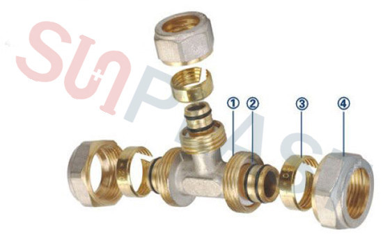 PEX-AL-PEXBrass Comlision fittings